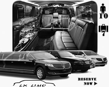 Stretch Limo airport shuttle in Dallas