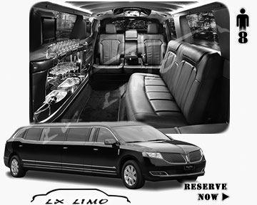 Stretch Wedding Limo for hire in Dallas, ON, Canada